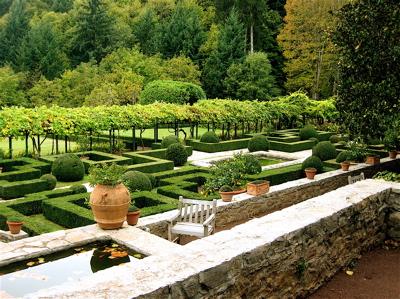 Badia a Coltibuono gardens, Gaiole in Chianti, Italy