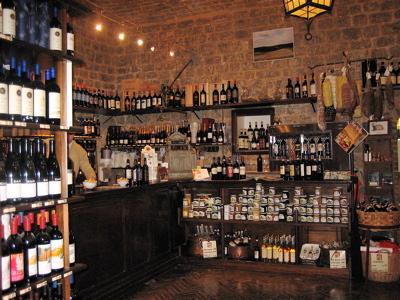 Enoteca La Fortezza in Montalcino, Italy