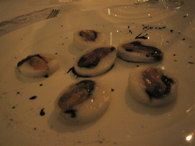Mussels at Il Canto