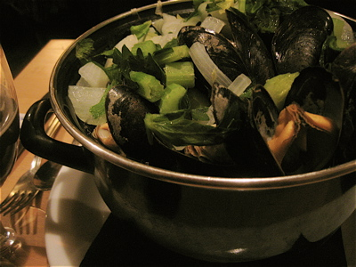 Mussels at Les Brassins in Brussels