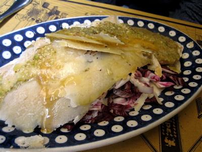 Pecorino di Fossi con salsa etrusca, Osteria Belle Donne