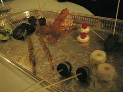 petits fours at Il Canto