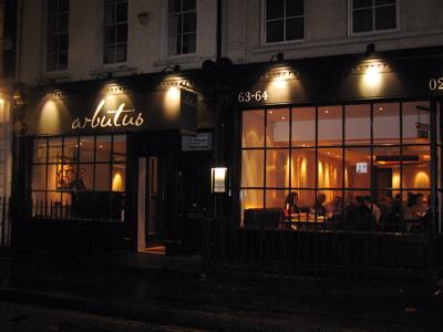 Arbutus Restaurant exterior