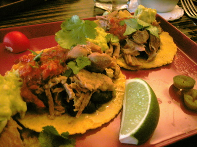 Carnitas tacos at Crazy Homies Restaurant, Notting Hill