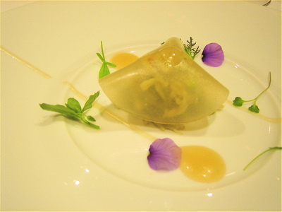 Crab-Avocado with honey and sesame oil, Hibiscus restaurant, London