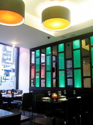 Haozhan restaurant interior, Chinatown, London