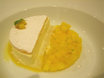 Kaffir lime pie, Hibiscus restaurant, London