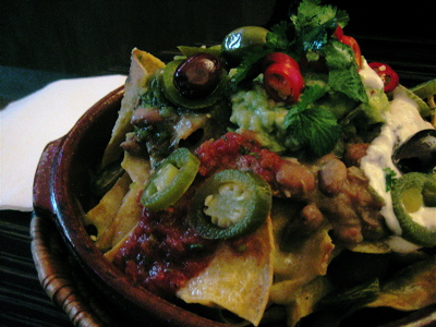 Nachos at Crazy Homies restaurant, Notting Hill