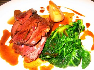 roast wild duck, salsify, quince, Arbutus restaurant