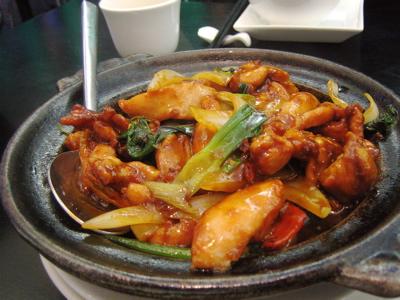 senpei chicken, Haozhan restaurant, London