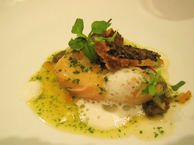 slow-cooked salmon, Hibiscus restaurant, London