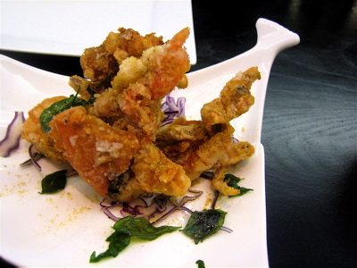 softshell crab at Haozhan restaurant, London