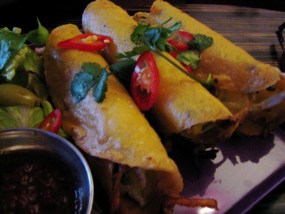 taquitos at Crazy Homies restaurant, Notting Hill