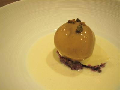 Truffle Ice Cream and Cauliflower veloute, Hibiscus Restaurant, London
