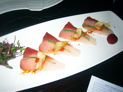 Hamachi at Oishii Sushi in Boston