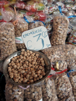 Sesame-covered peanuts in Greece