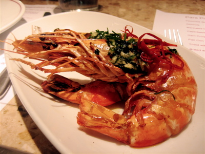mozambique prawns at Barrafina