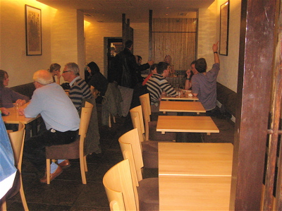dining room at Sushi Say Restaurant, Willesden Green, London