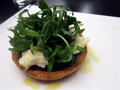 Nettle tart with smoked mozzarella at Wapping Food