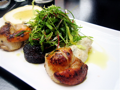 Scallops and black pudding at Wapping Food restaurant