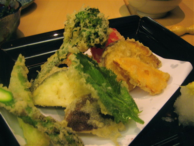 vegetable tempura at Sushi Say