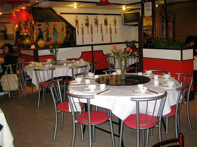 Angeles szechuan restaurant interior, Kilburn, London
