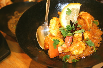 Karahi king prawns special at New Tayyabs