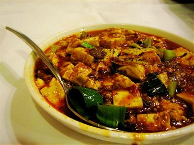 mapo tofu at Angeles szechuan, Kilburn