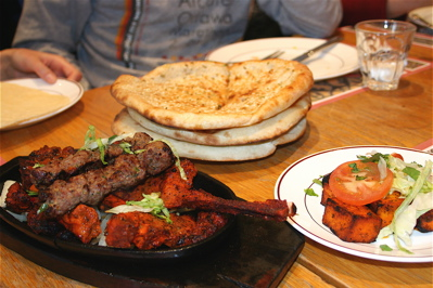 seekh kebab and lamb tikka at New Tayyabs