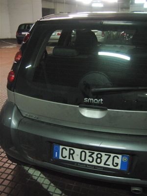 Smart for Four rental car in Tuscany, Italy
