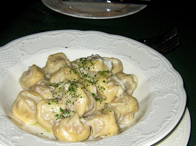 meat pelmeni at Cafe Pushkin