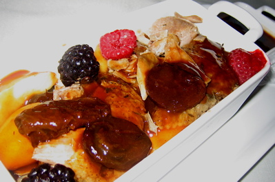 Molokhovets Dream baked duck with berries
