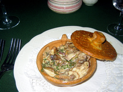 Mushroom and cream appetizer at Cafe Pushkin