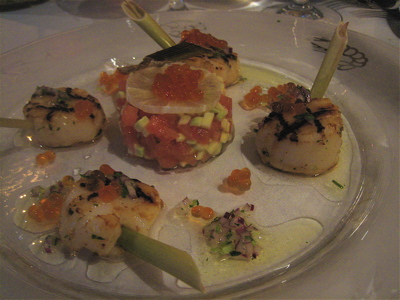 scallops appetizer at Molokhovets Dream, St. Petersburg, Russia