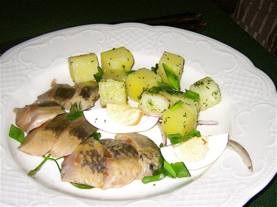 smoked herring at Cafe Pushkin
