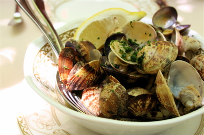 clams (vongole) in beurre blanc at Corte Sconta