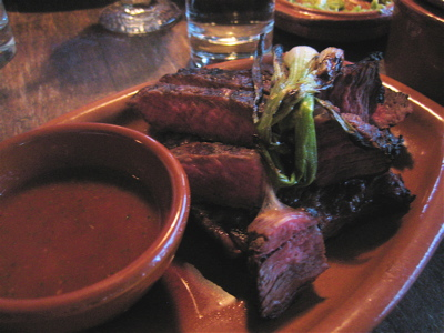 carne asada at Green & Red restaurant, Shoreditch, London