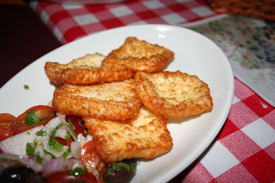 Haloumi at Barood Restaurant in Jerusalem