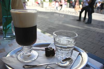 """The """"orangina"""" at Julius Meinl Cafe in Vienna"""
