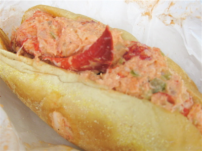 Lobster roll at Straight Wharf Fish Store