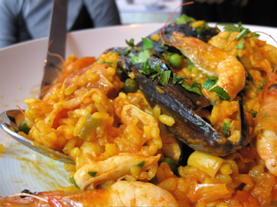 paella at St. Alban's restaurant (near Piccadilly Circus)