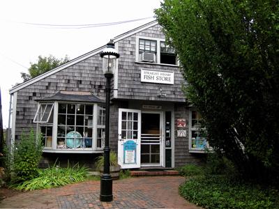 Straight Wharf Fish Store, Nantucket island