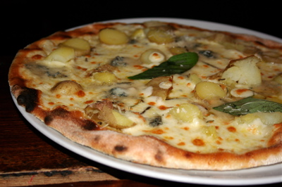 potato pizza at the Regent