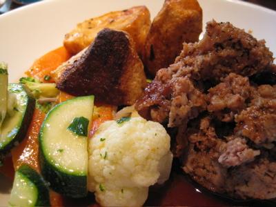 pork-and-sage meatloaf at the Garrison
