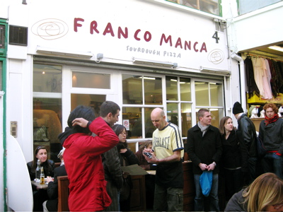 Franco Manca pizzeria in Brixton