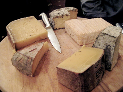 cheese offerings at Bistrot Paul Bert