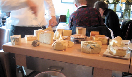 cheese trolley at No. 9 Park restaurant