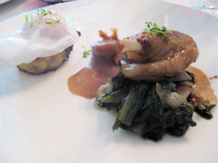 duck confit at No. 9 Park