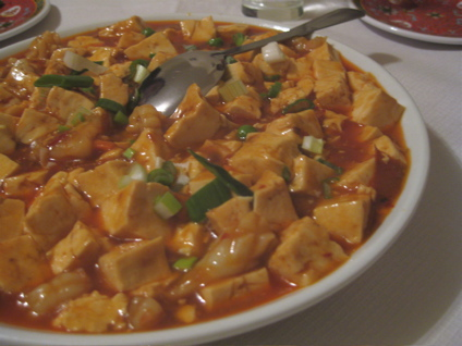 spicy tofu and seafood