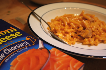 Kraft macaroni and cheese - the dinner of champions